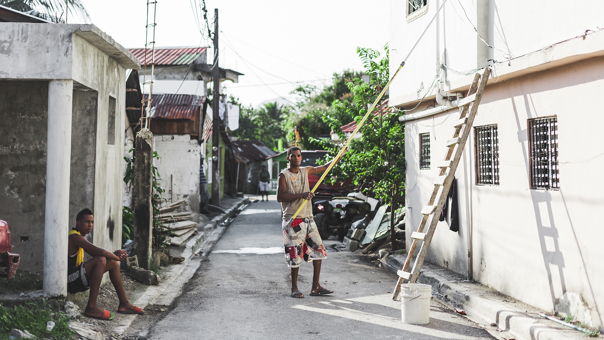 man standing in a street in Dominican Republic