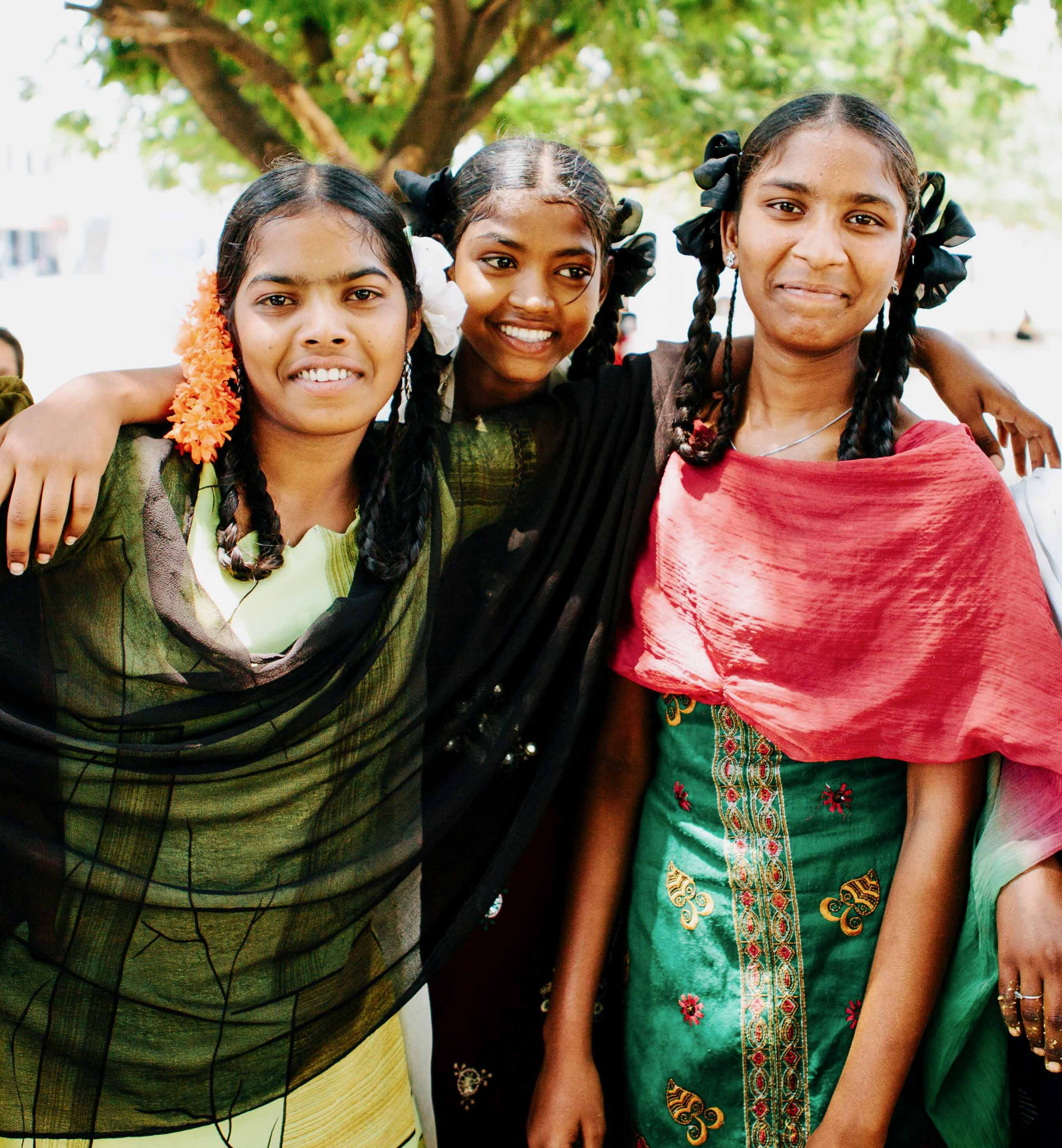 Three village girls