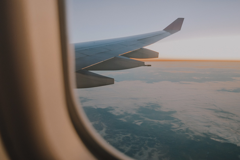 image looking out airplane window